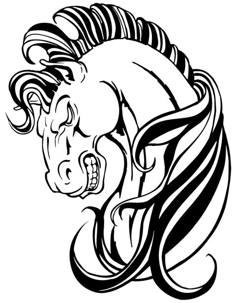 awesome horse mascot coloring page   coloring pages
