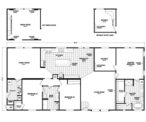 floor plans the pecan valley iii hi3268a manufactured home floor plan