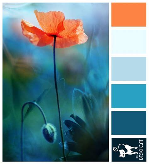 Poppy Love - Teal, Blue, tiffany, sky, pastel, orange ...