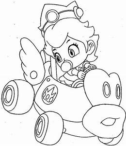 How to Draw Baby Princess Peach Driving Her Car from Wii ...