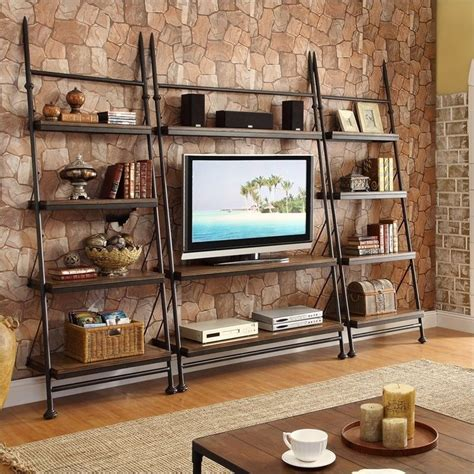 riverside furniture camden town  piece leaning tv stand