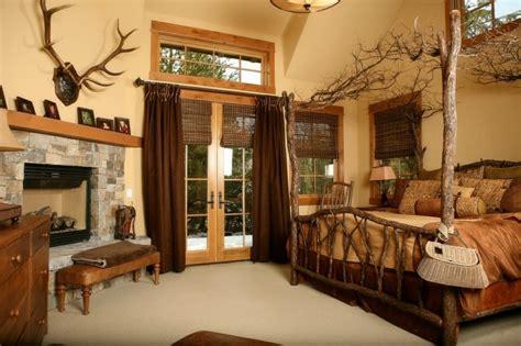 decoracion de dormitorios rusticos madera  piedra