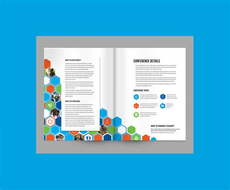 sample elegant conference brochure templates documents