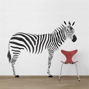 Zebra wall decals 2017 grasscloth wallpaper for Zebra wall decals
