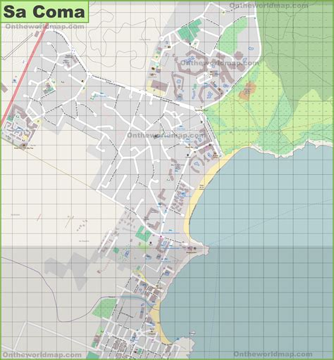 large detailed map  sa coma