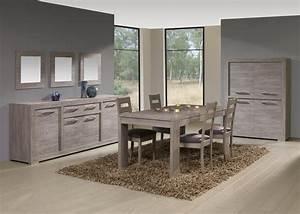 salle a manger complete contemporaine coloris cottage oak With salle a manger ovio
