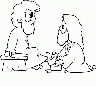 Washing Jesus Feet Coloring Washes Piedi Lavanda