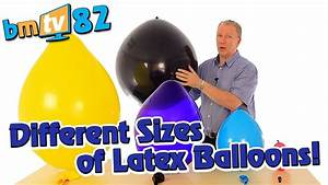 Different Sizes Of Latex Balloons - Bmtv 82