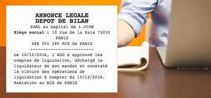 Depot De Bilan : annonce l gale d p t de bilan le l galiste ~ Maxctalentgroup.com Avis de Voitures