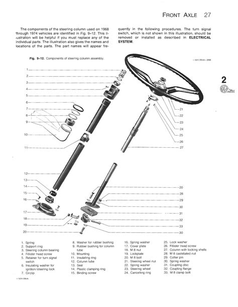 thesambacom gallery steering column exploded view