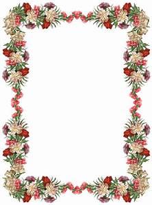 FREE digital vintage flower frame and border png with ...