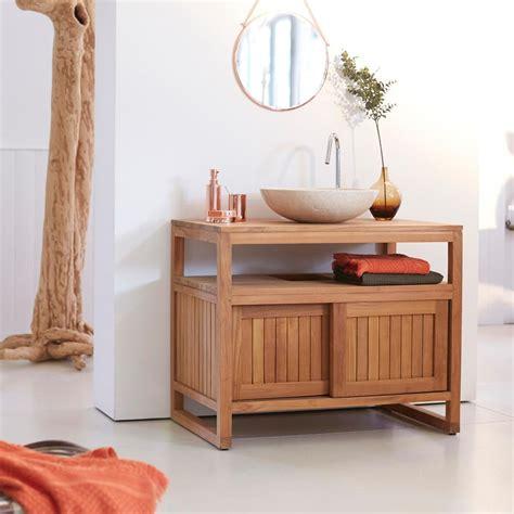 meuble salle de bain en teck 90 colonial tikamoon prix