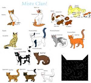 clan of cats my warrior cat clan updated by snlckers on deviantart