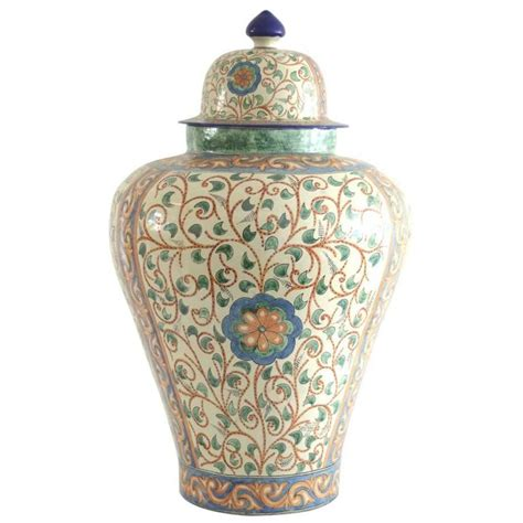 Colorful Vases by Colorful Talavera Vase With Baroque Design For