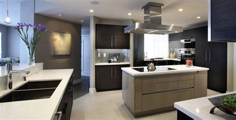 Twotoned Kitchen  Custom Contemporary Veneer Kitchen And