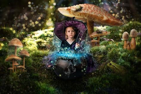 turn baby photo   fairy tale queen  fungi