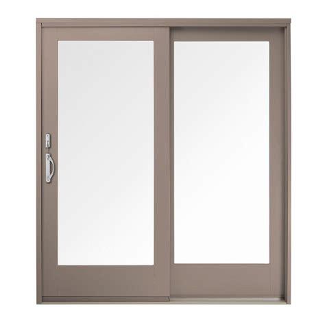 andersen 400 series patio door screen andersen 60 in x 80 in 400 series frenchwood sandtone