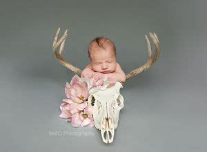 newborn baby photo photography floral daddy hunter hunting