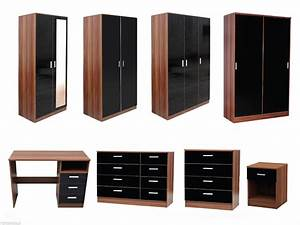 Get your walnut bedroom furniture darbylanefurniturecom for Alpine high gloss bedroom furniture