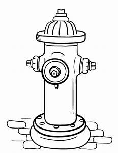 Free Fire Hydrant Coloring Page