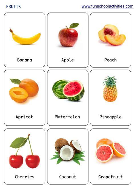 printable fruits flashcards kartes gia anaptyxh lexilogioy pinterest english class