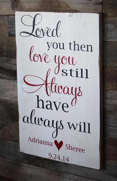 large wood sign loved   love