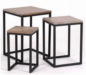 Table Gigogne Industriel : pour une ambiance charme et cosy meubles et d coration ~ Teatrodelosmanantiales.com Idées de Décoration