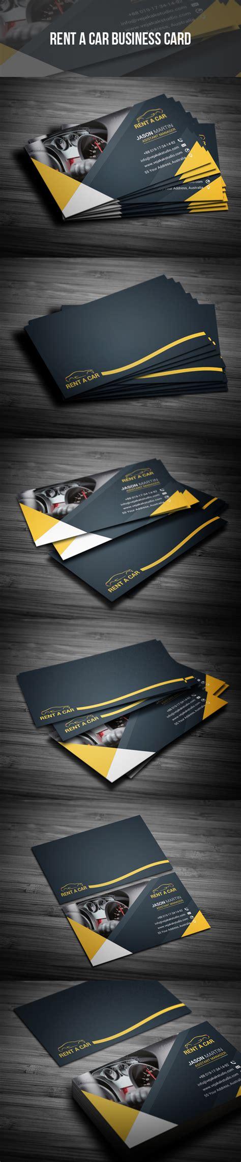 rent  car business card  images restaurant