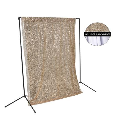 rose gold sequin white fabric backdrop kit backdrop