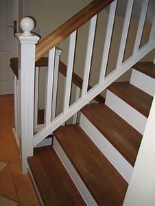 Reduzierstück 1 2 Auf 1 4 : stufen auf betontreppe gegen l ufig mit podest eiche wei lack gel nder landhausstil ~ Yasmunasinghe.com Haus und Dekorationen