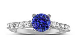 blue sapphire engagement ring 1 carat vintage cut blue sapphire and engagement ring in white gold jeenjewels