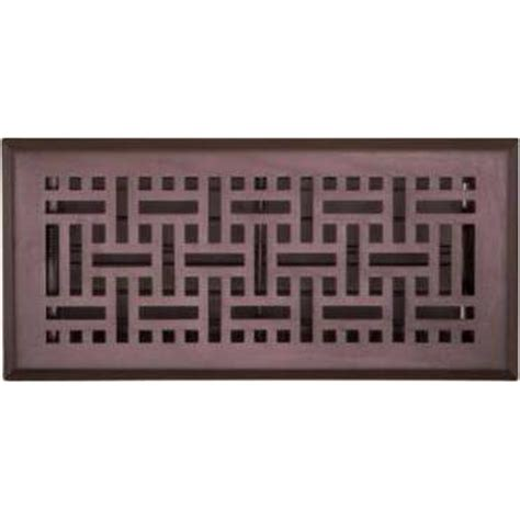 Rubbed Bronze Floor Registers by Accord 10 X 30cm Rubbed Bronze Wicker Floor Register