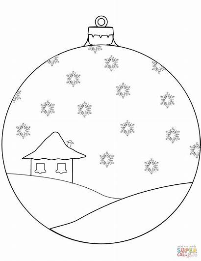 Coloring Ornament Christmas Pages Printable Decoration Ornaments