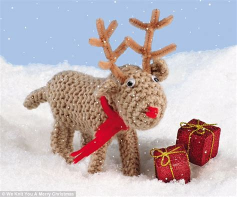 we knit you a merry christmas adorable new books teach you how to make woolly reindeer and