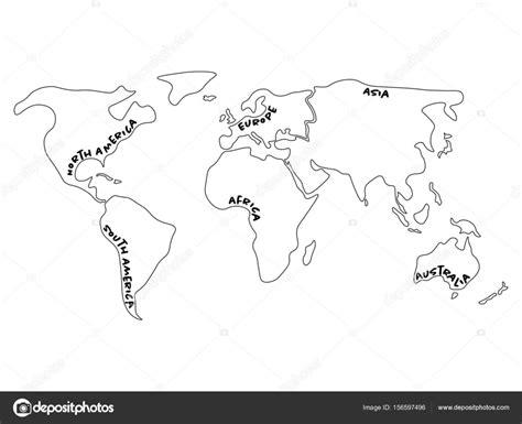 Carte Du Monde Afrique Europe by Carte Du Monde Divis 233 Six Continents Am 233 Rique Du Nord