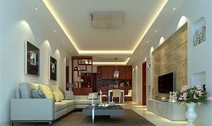 Suggested false ceiling height for led light defusion for False ceiling for living room