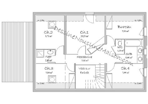 plan de maison plain pied 4 chambres gratuit plan de maison traditionnelle gratuit plan maison plain