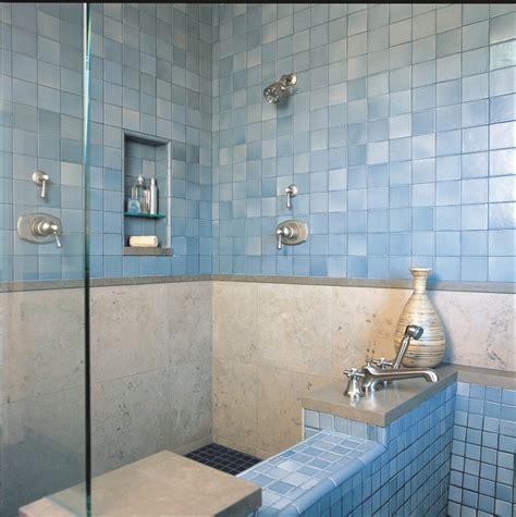 soaking tub  tile shower