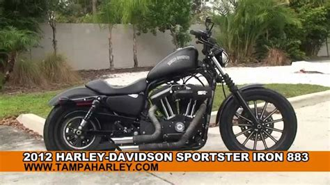 Used 2012 Harley Davidson Sportster Iron 883 Motorcycles