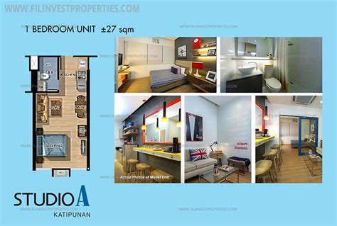 1 Bedroom Unit Rental by Condominium For Sale In Katipunan Near Ateneo Miriam