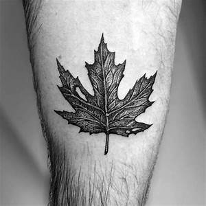80 Maple Leaf Tattoo Designs For Men - Canadian And ...