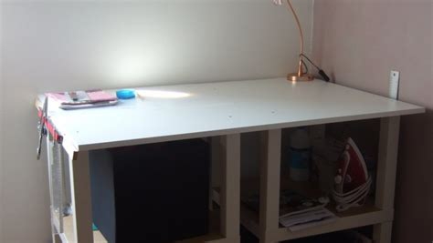 bureau blanc ikea table coupe couture diy