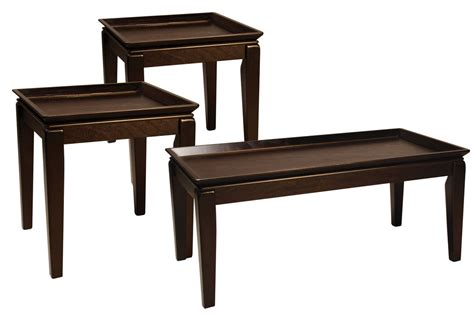 Gold coffee tables available on the market. Black Tray Cocktail Table & 2 End Tables at Gardner-White