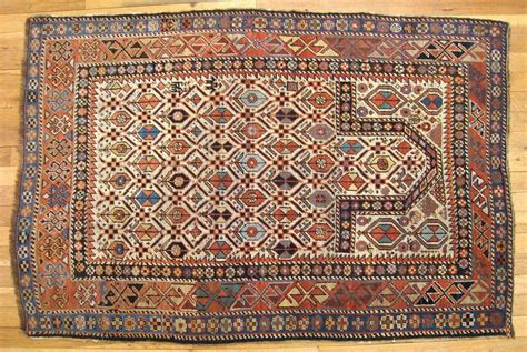 Meditation Rug by Caucasian Kuba Meditation Rug In Small Size With Ivory