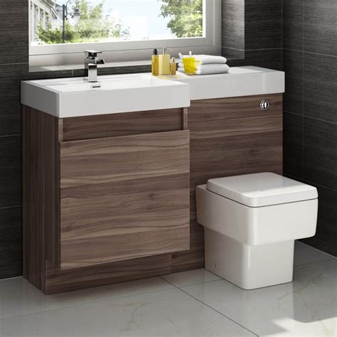 Bathroom Sink And Unit by 1200mm Walnut Vanity Unit Square Toilet Bathroom Sink Left