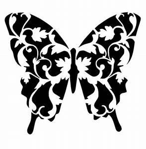 6  6 Vintage Butterfly Stencil 2