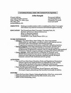 sample resume by a first year student free