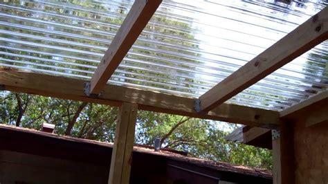 clear roof panels for pergola pergola