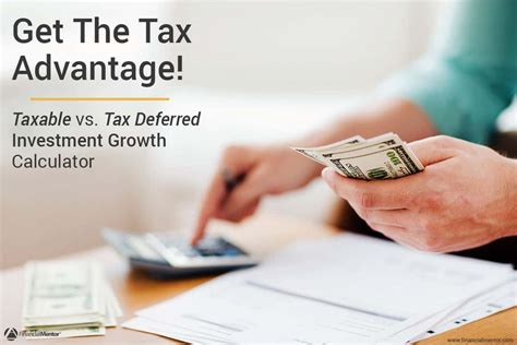 taxable  tax deferred investment growth calculator