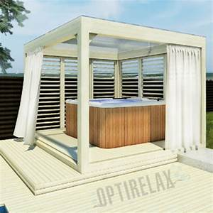 whirlpool holz glas uberdachung lounge g optirelaxr With whirlpool garten mit handlauf holz balkon